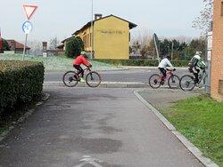 Gruppo di ciclisti