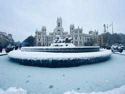 Preciosa estampa con nieve