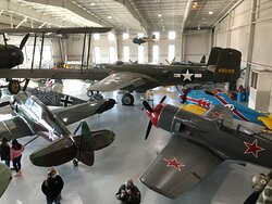 B-25 with various Russian aircraft and a German 109