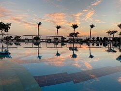 Sunrise and Pool as a Mirror)