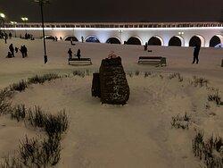 Парк Акведук, памятник ополченцам-ростокинцам