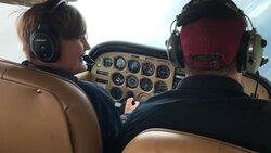 12 year old, future pilot having a blast!
