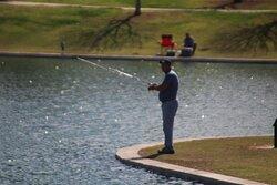 People were fishing