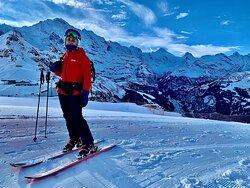 Beautiful panorama view of the Jungfrau region.
