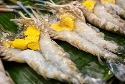 River prawn buffet with international food menu