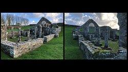 ruines de la Chapelle de Languidou à Plovan, double angle de vue