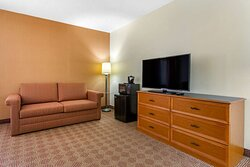 King room with flat-screen television