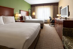 Our two queen larger room offers more space for the whole family.