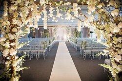 Gold & Grey Room - Wedding Ceremony