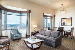 One-Bedroom Bayview Suite - Living Area
