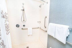 Accessible Suite Bathroom - Roll-in Shower