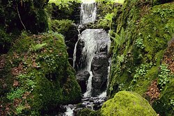 Clampitt Falls, the first of two stunning waterfalls on the Canonteign falls estate.