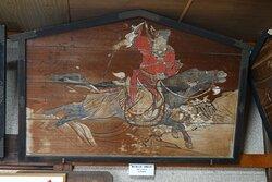 豊橋市・安久美神戸神明社 額殿に掛けられた絵馬