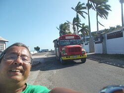 """With a """"party bus"""" or such seen behind me (while approaching the Lighthouse)"""