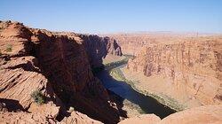 le Glenn Canyon vue de l'overlook du barrage
