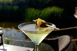 Martinis by the lake