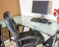 Business center with high-speed Internet access