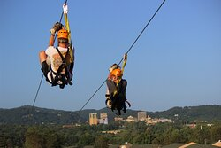 Zip our 1,200 foot lines side by side with a friend!