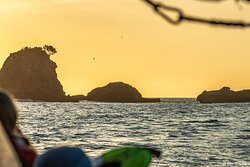 Sugar Loaf Islands at sunset