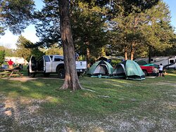 Tents are very much allowed in our rv park. We have a bathhouse with toilets, showers, and even an onsite coin-operated laundromat.