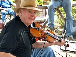 One of our guests playing his fiddle here.