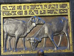 "Leuven, Saint Peter's Chruch, ""Feed my lambs"""
