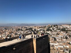 Stunning views over Granada from the Alcazabar towers at the Alhambra complex.