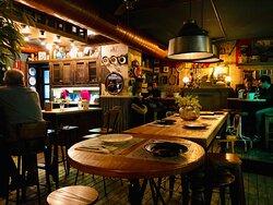 Inside Rosario Varela, a lovely modern tapas bar.