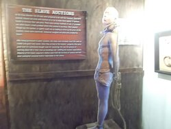 A 3-D prototype display relating to the slavery in the colonial time (on the 1st level)