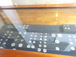 Some colonial coins on display (on the 1st level)