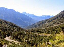 Vista retrospettiva sulla Val Canali