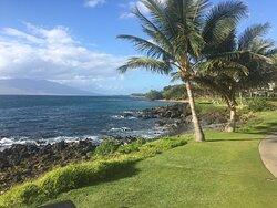 Beautiful scenery along Waimea Beach Path