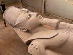 Great statue of Ramses II at Memphis