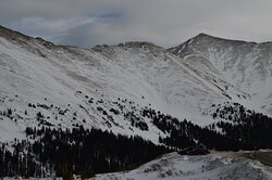 view from Loveland Pass Road