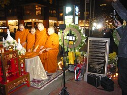 King Bhumibol Adulyadej's 30 days passing mourning on 11/14/2016.