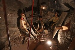 Working in the mines