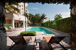 Outdoor Pool Seating Area