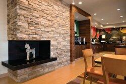 Lobby Fireplace Area