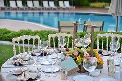 Garden Pool - Wedding Setup