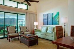 Mountain View Penthouse Villa - Living Room