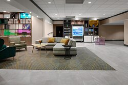 Our lobby is a great place to relax and get ready for the day