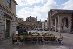 Covent Garden, London:  an empty piazza due to the pandemic