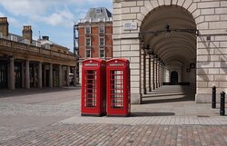 Covent Garden, London:  the colonnaded walkways around the piazza