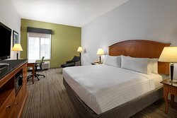 Our spacious king rooms feature free wifi, keurig, in room safe