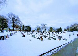 Irwin union cemetery in the snow