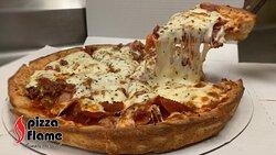Sausage & Pepperoni Deep Dish Pizza