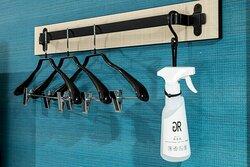客室 ハンガー、消臭&除菌スプレー