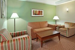 Enjoy a living room area in our Executive Suites