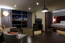 View the Las Vegas Strip from your suite.