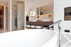 Presidential Suite Bathroom - Separate Tub & Shower